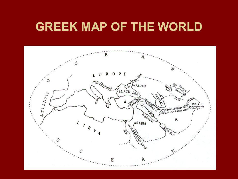 GREEK MAP OF THE WORLD