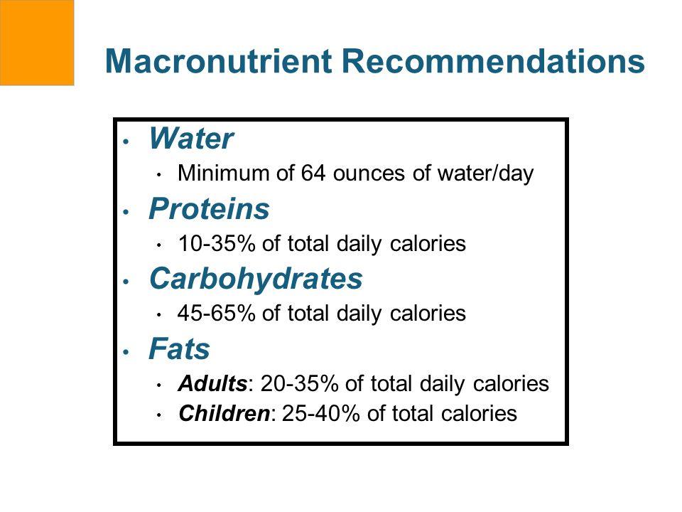 Macronutrient Recommendations