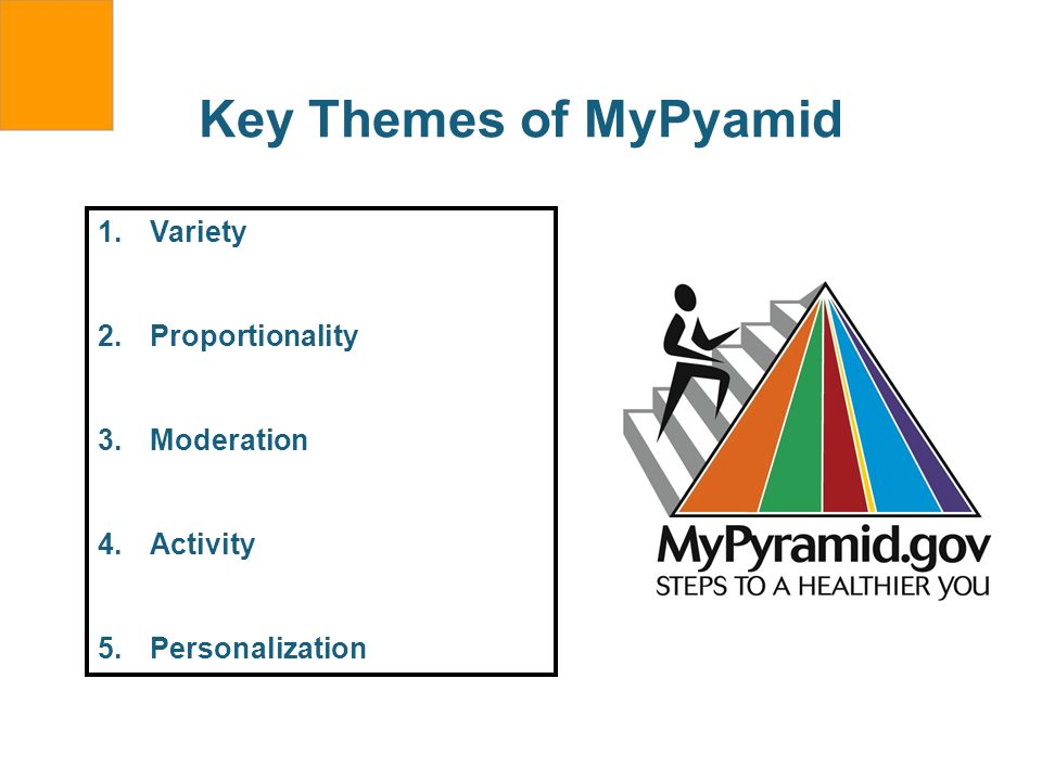 Key Themes of MyPyamid Variety Proportionality Moderation Activity