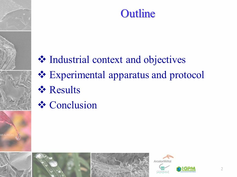 Outline Industrial context and objectives