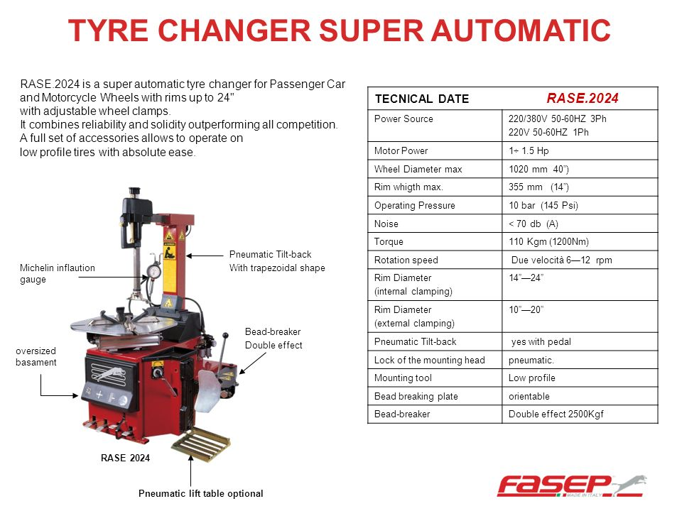 TYRE CHANGER SUPER AUTOMATIC
