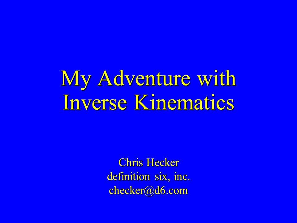 My Adventure with Inverse Kinematics