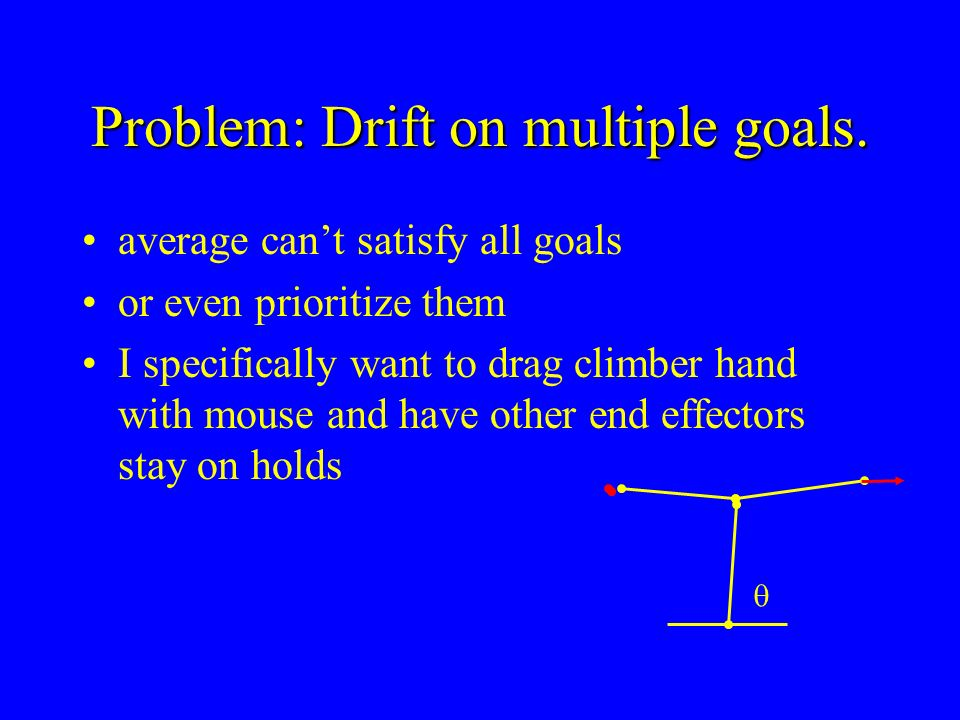 Problem: Drift on multiple goals.