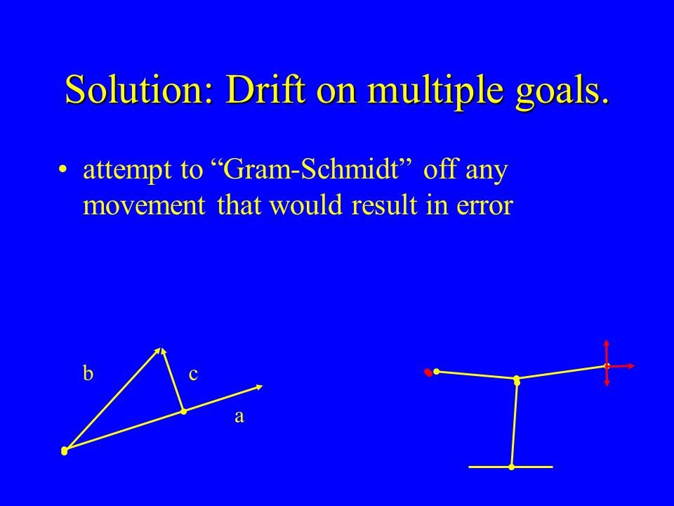 Solution: Drift on multiple goals.