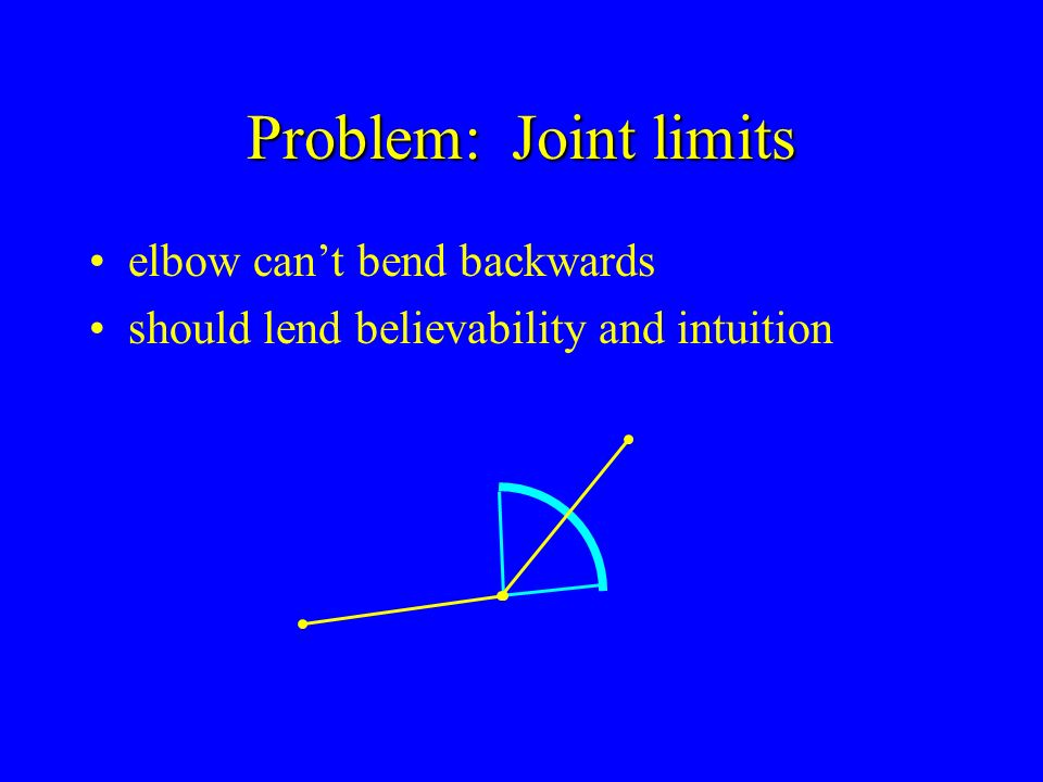 Problem: Joint limits elbow can't bend backwards
