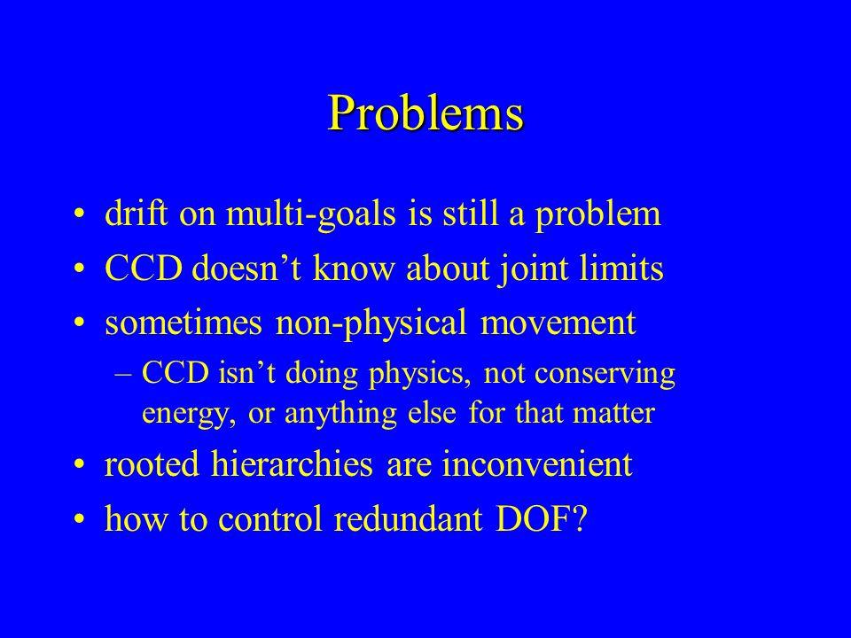 Problems drift on multi-goals is still a problem