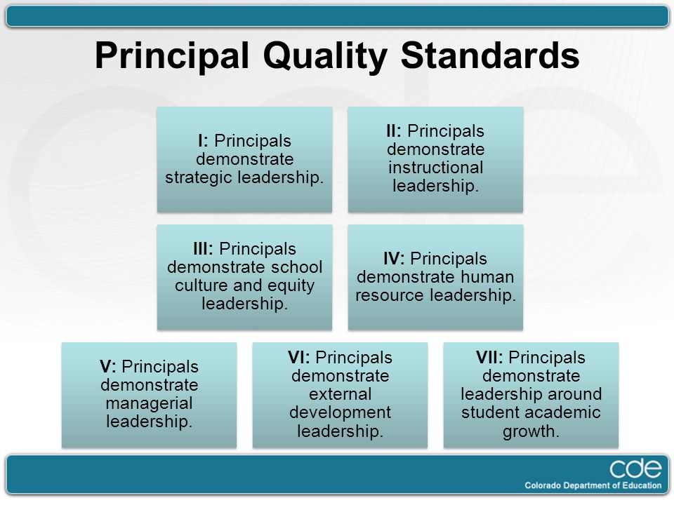 Principal Quality Standards