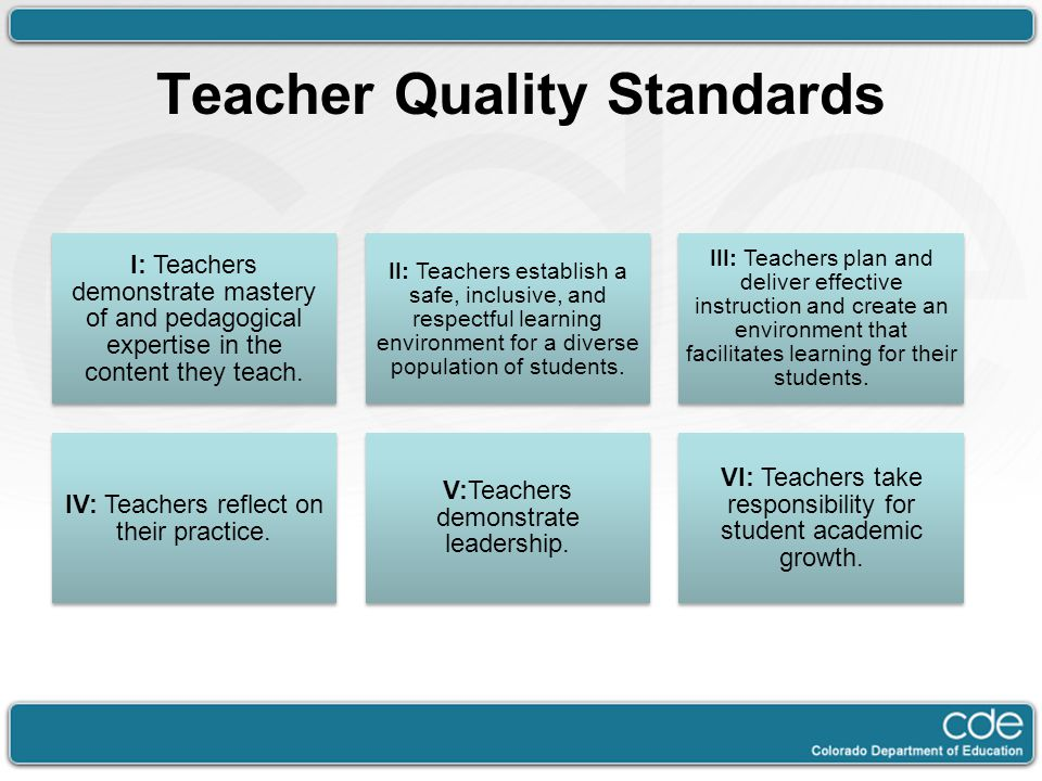 Teacher Quality Standards