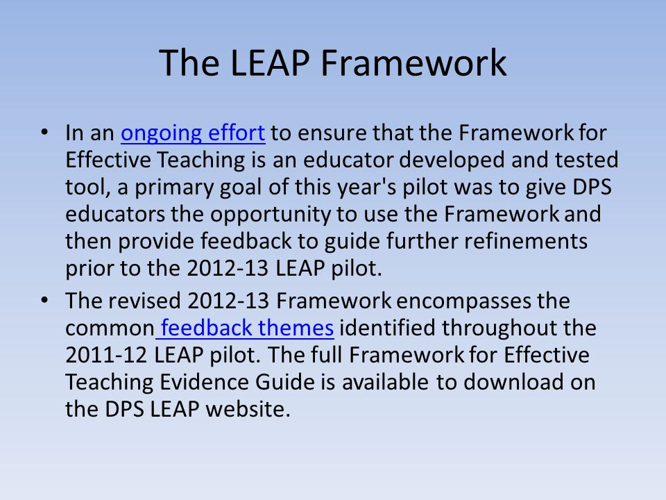 The LEAP Framework