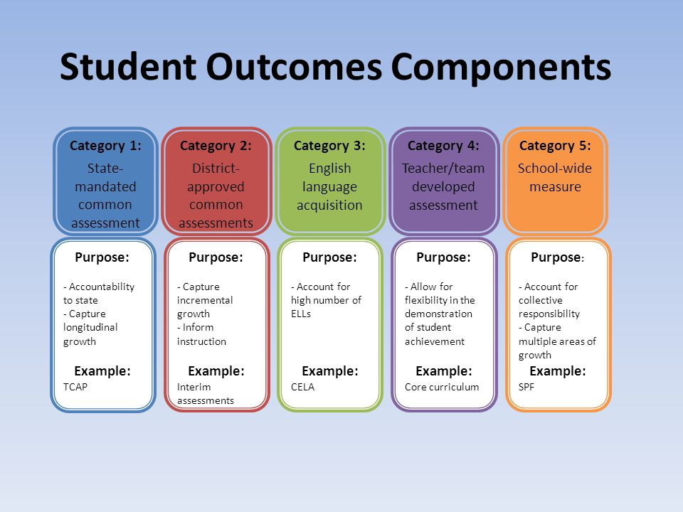Student Outcomes Components