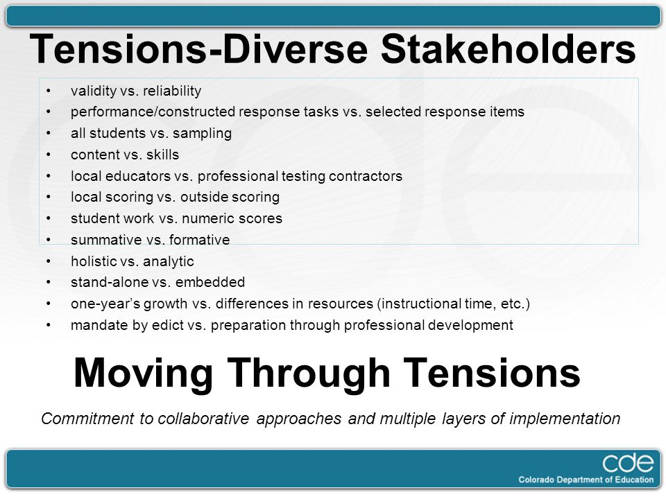 Tensions-Diverse Stakeholders