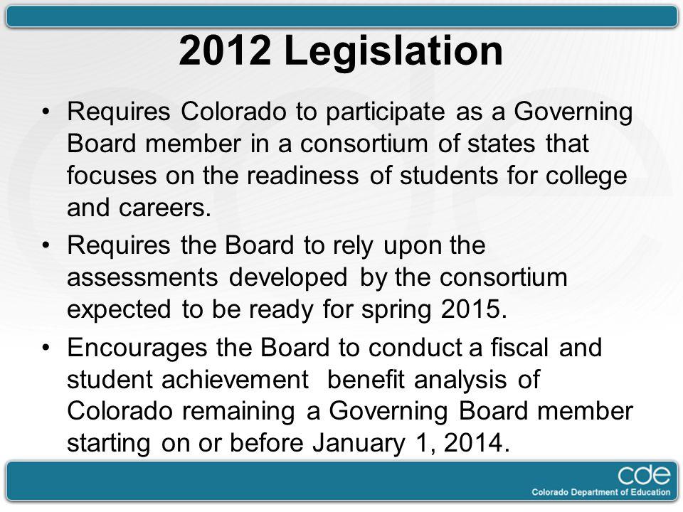 2012 Legislation