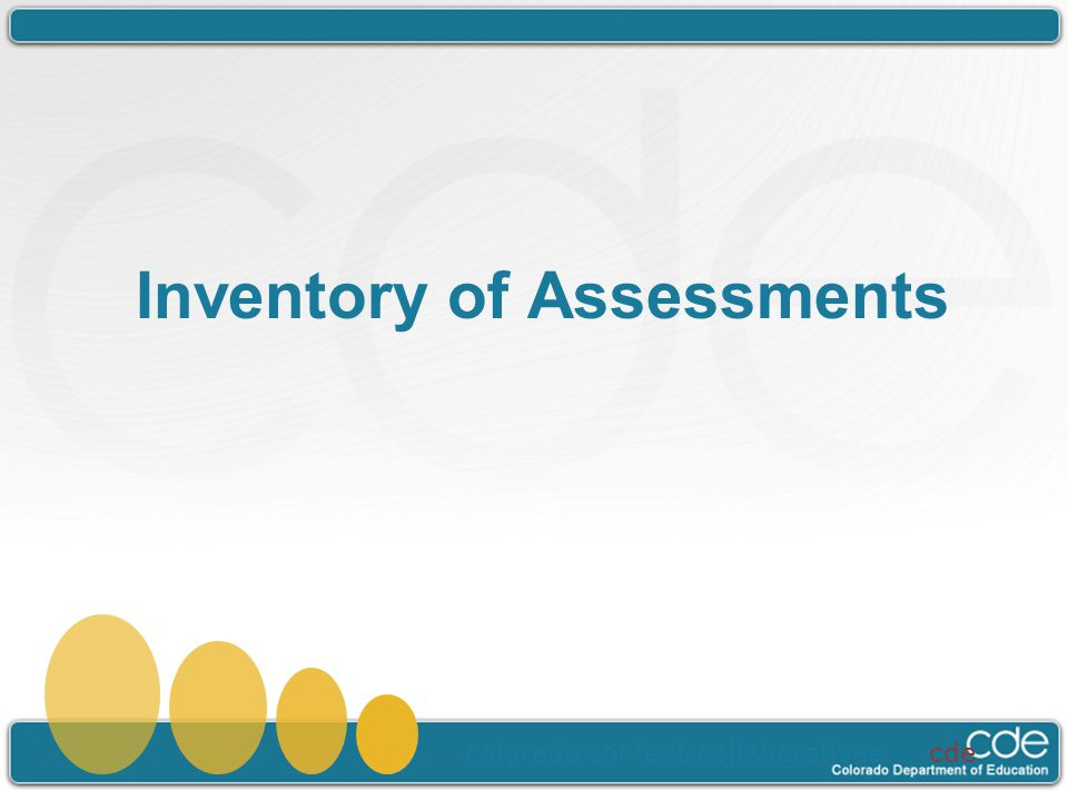 Inventory of Assessments