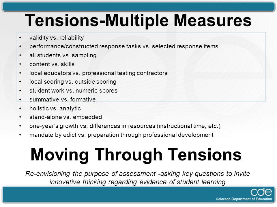 Tensions-Multiple Measures