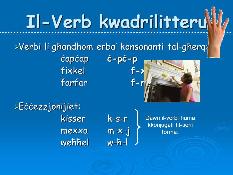 Il-Verb kwadrilitteru