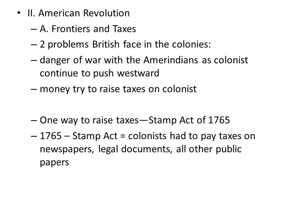 II. American Revolution