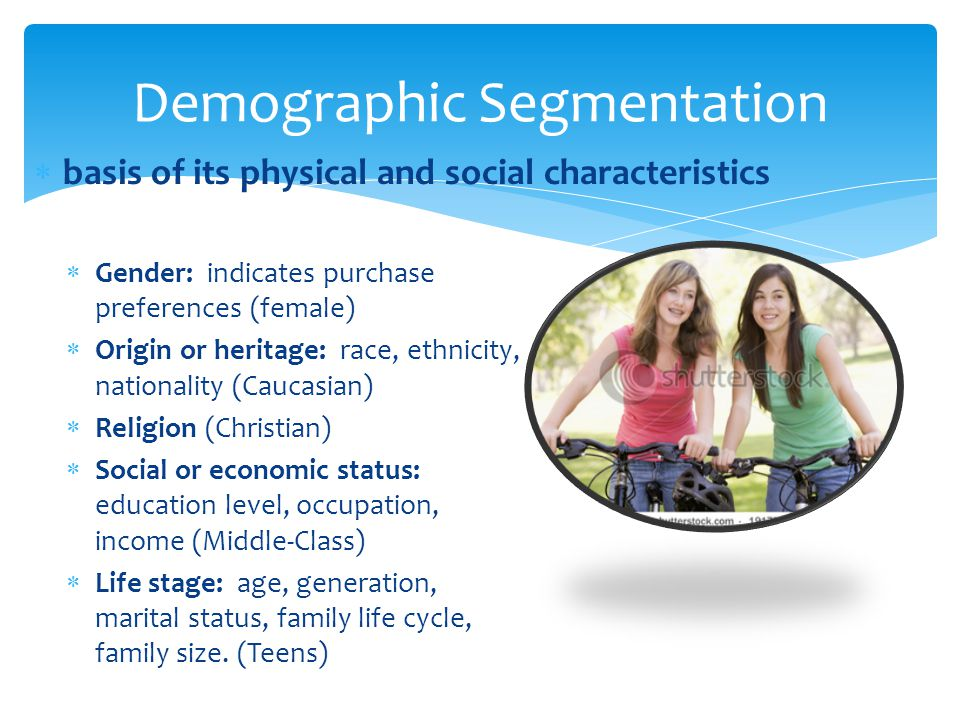 explain the concept of market segmentation The concept of nondemographic segmentation rediscovering market segmentation a smart segmentation strategy we'll explain.