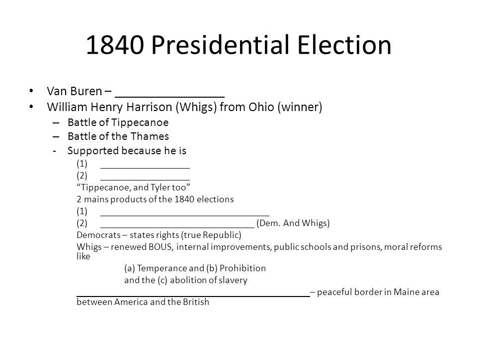 1840 Presidential Election