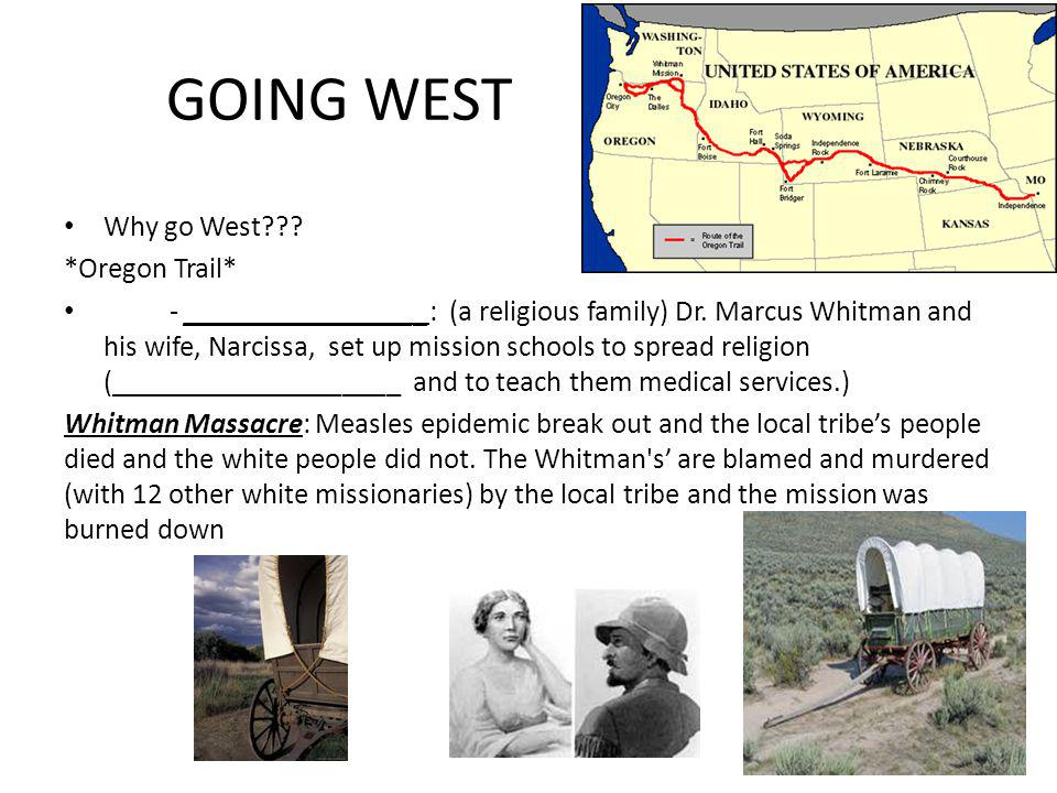 GOING WEST Why go West *Oregon Trail*