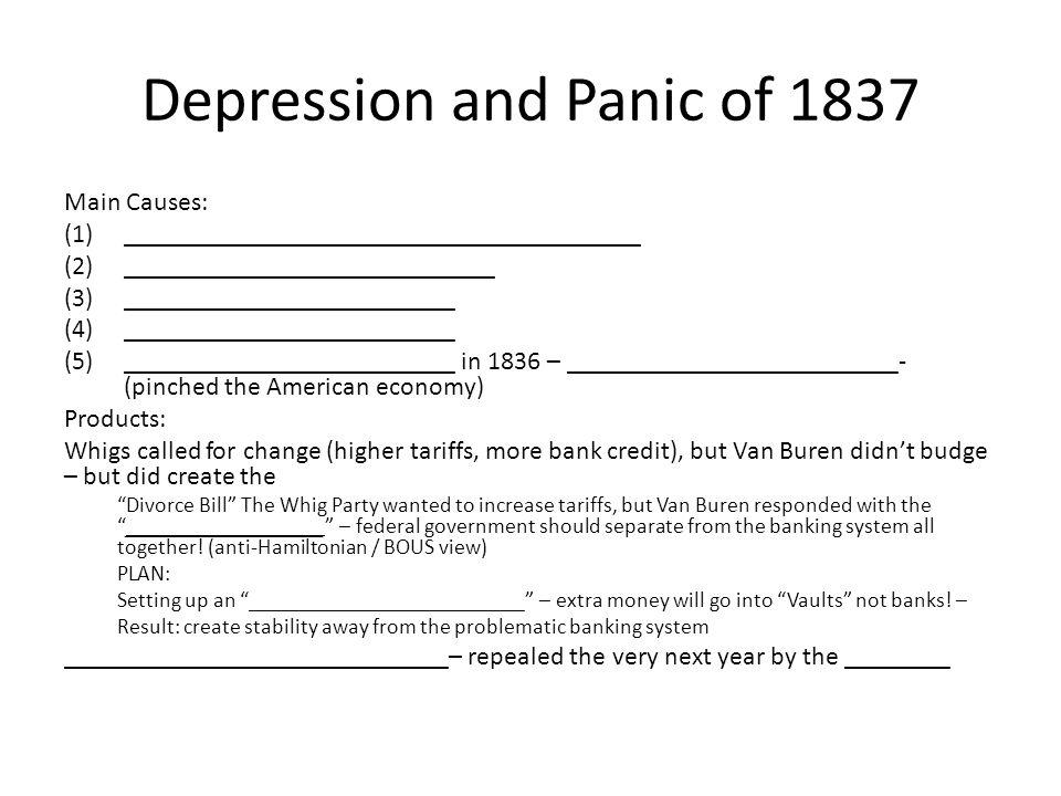Depression and Panic of 1837