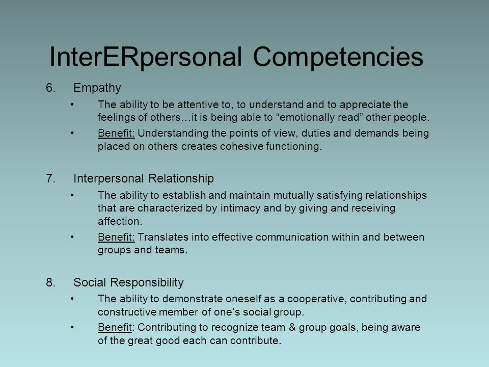 InterERpersonal Competencies
