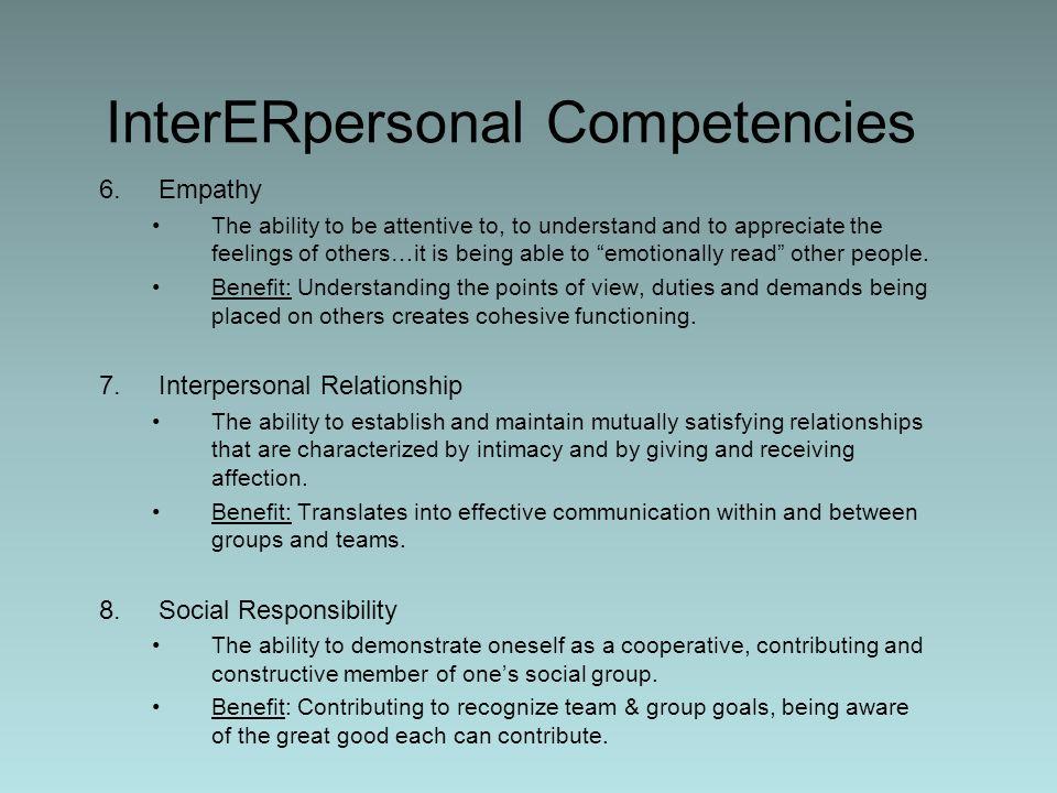 InterERpersonal Competencies
