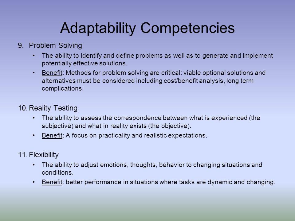Adaptability Competencies