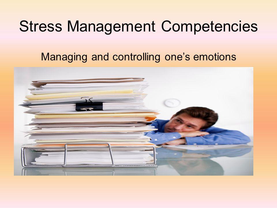 Stress Management Competencies