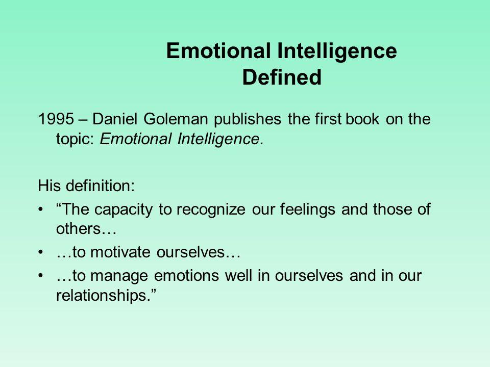 Emotional Intelligence Defined