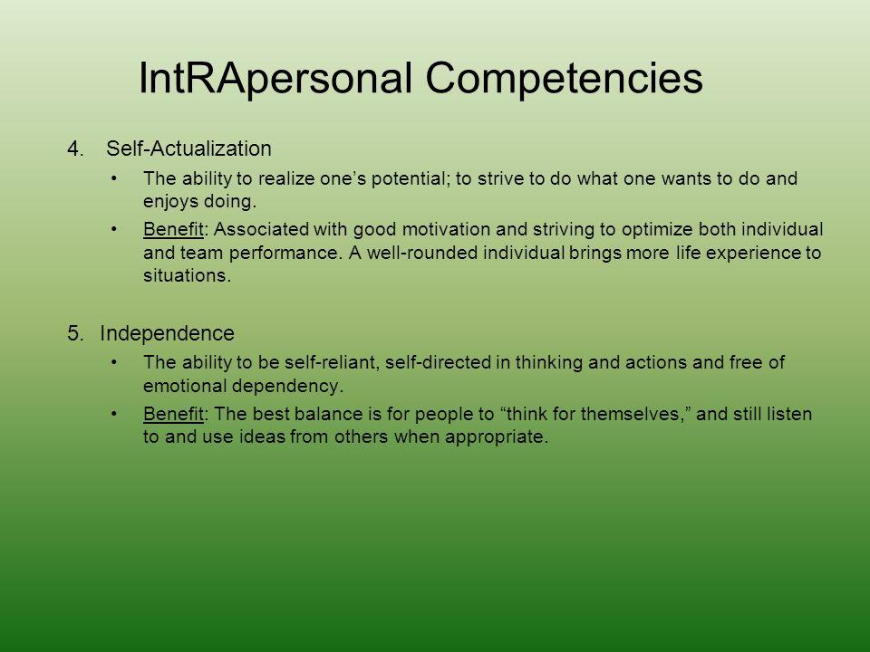 IntRApersonal Competencies