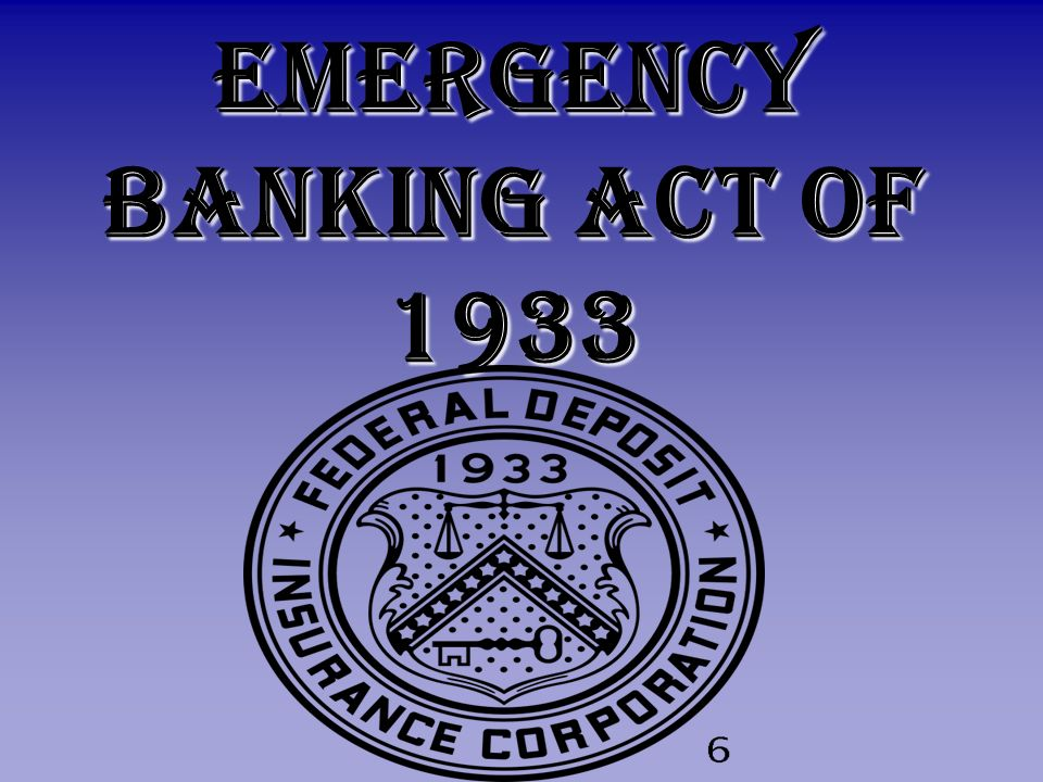 Emergency Banking Act of 1933