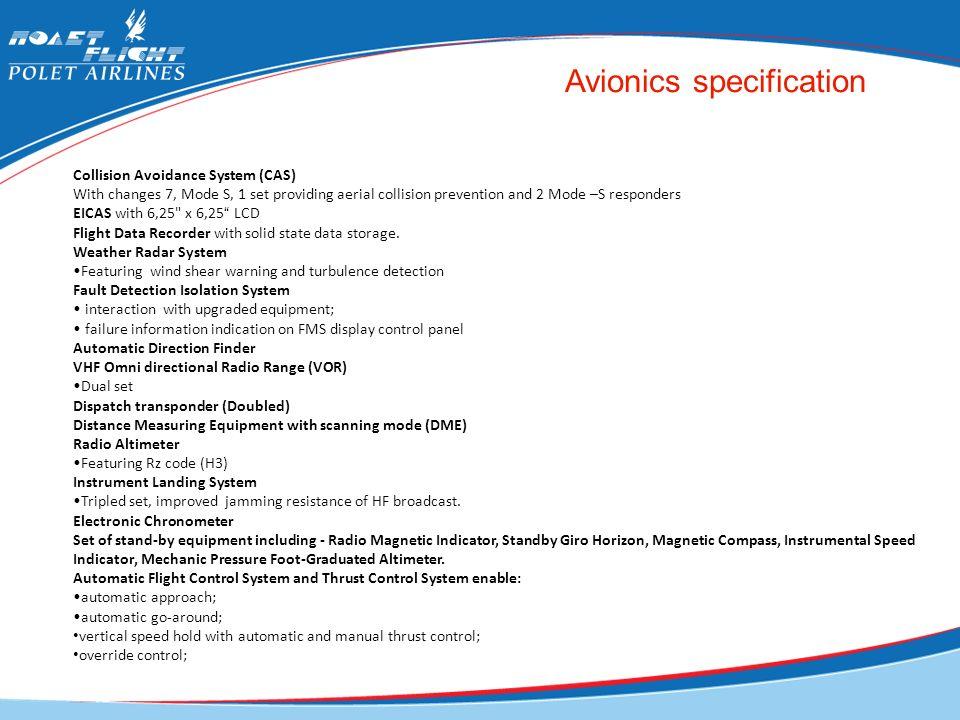 Avionics specification