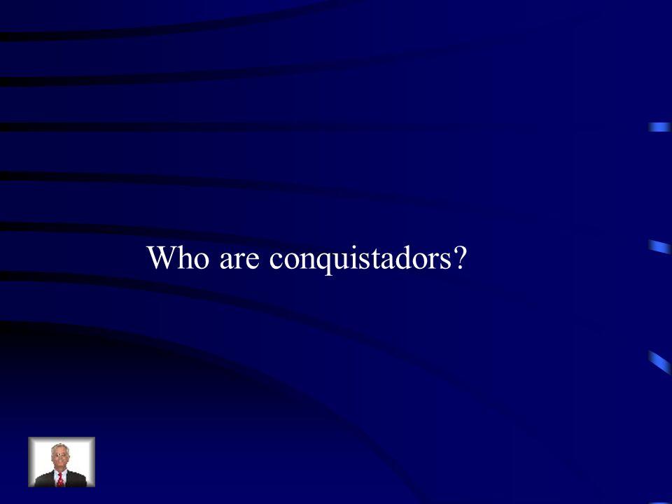 Who are conquistadors