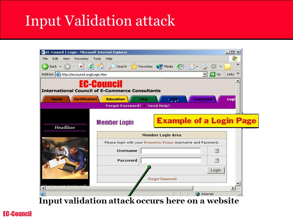 Input Validation attack