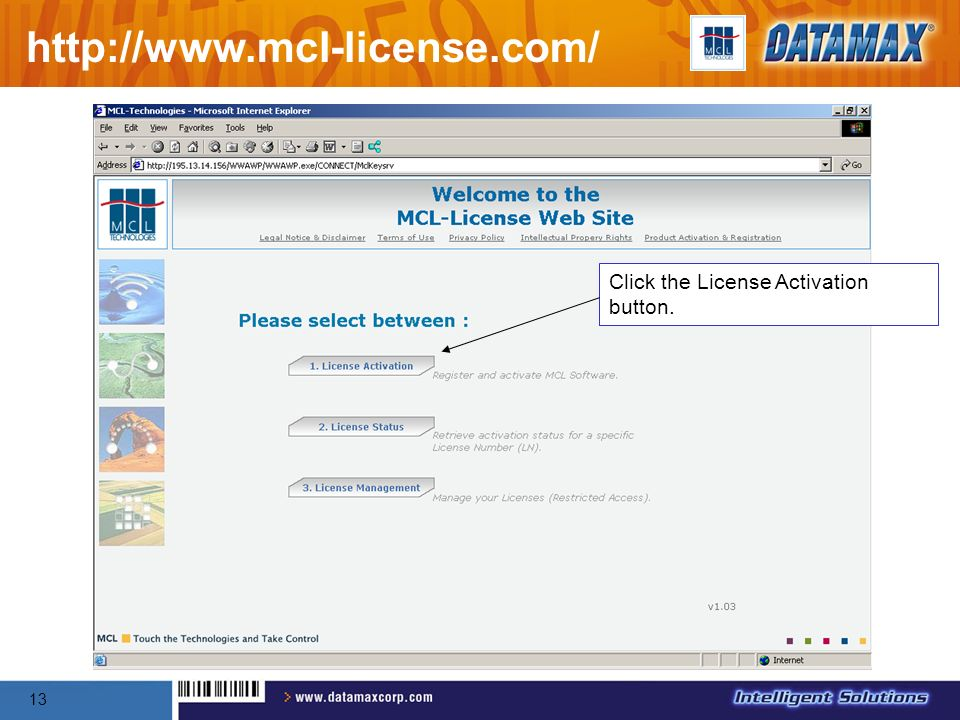 http://www.mcl-license.com/ Click the License Activation button.