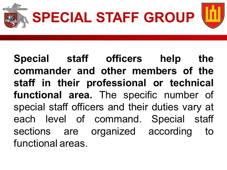 SPECIAL STAFF GROUP