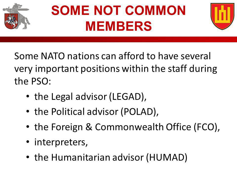 SOME NOT COMMON MEMBERS