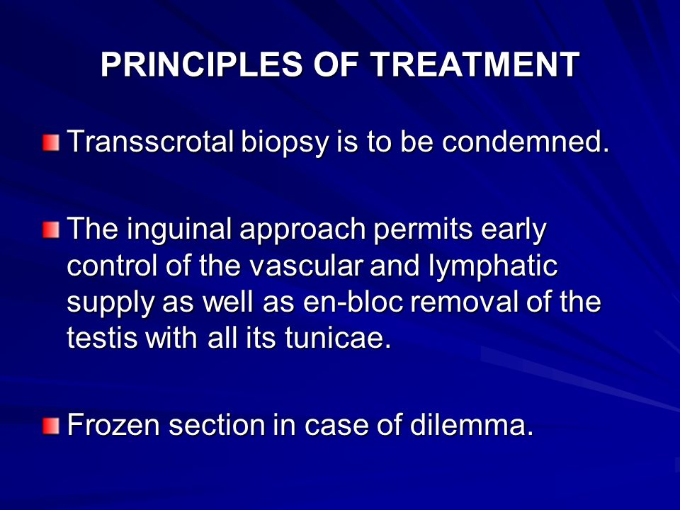 PRINCIPLES OF TREATMENT