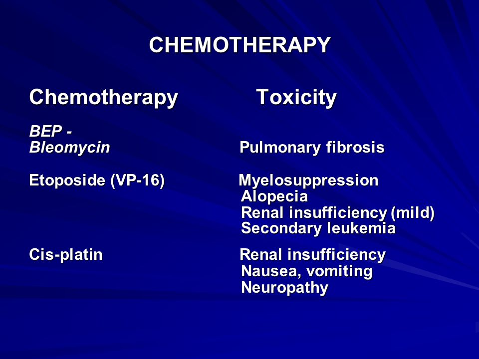 Chemotherapy Toxicity