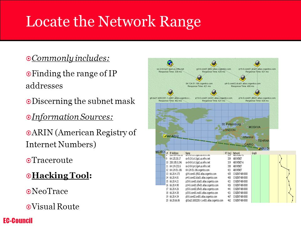Locate the Network Range