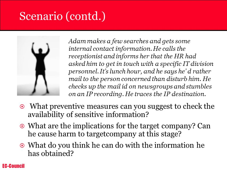 Scenario (contd.)