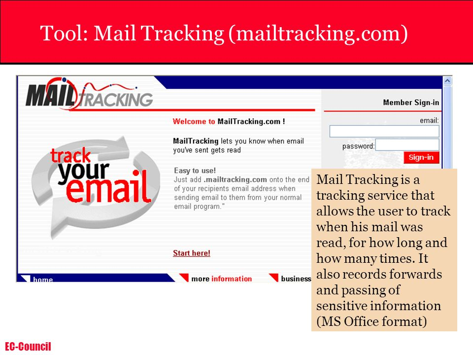 Tool: Mail Tracking (mailtracking.com)