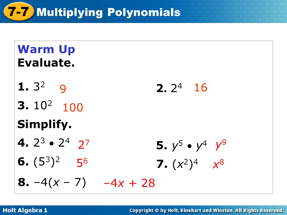 Multiplying Polynomials - ppt video online download