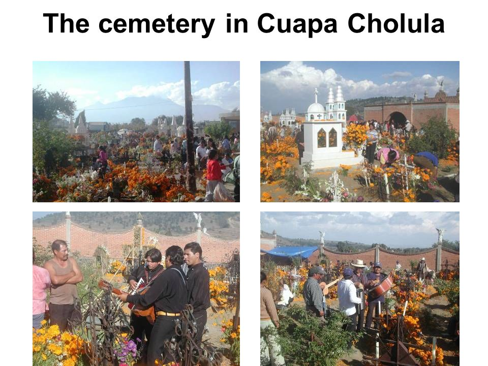 The cemetery in Cuapa Cholula