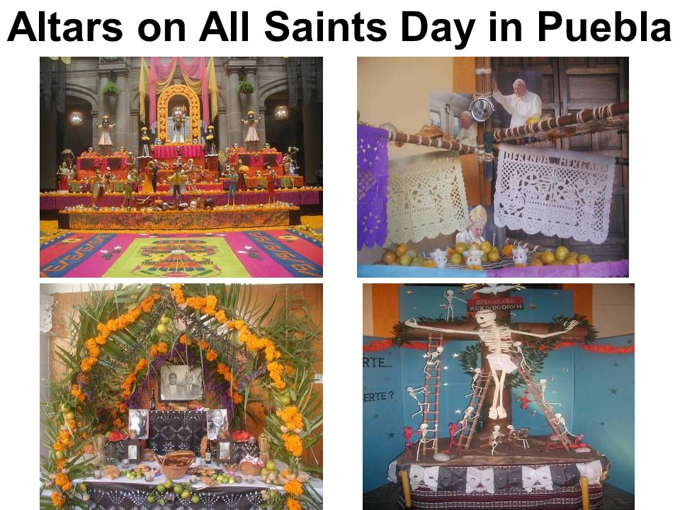 Altars on All Saints Day in Puebla