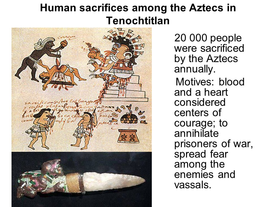 Human sacrifices among the Aztecs in Tenochtitlan