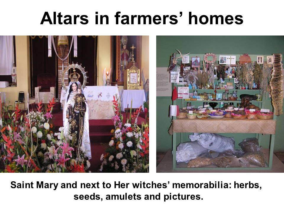 Altars in farmers' homes