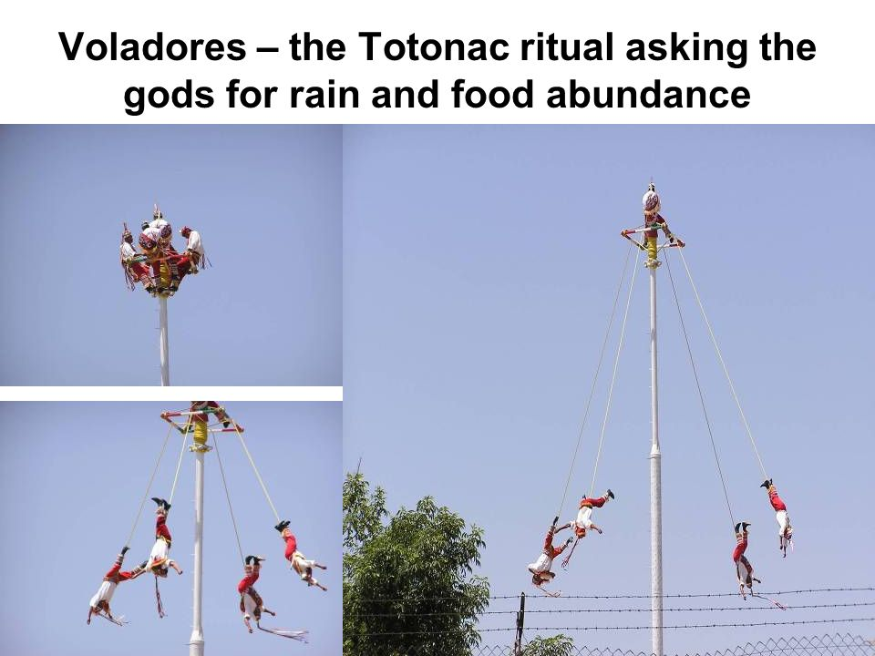 Voladores – the Totonac ritual asking the gods for rain and food abundance