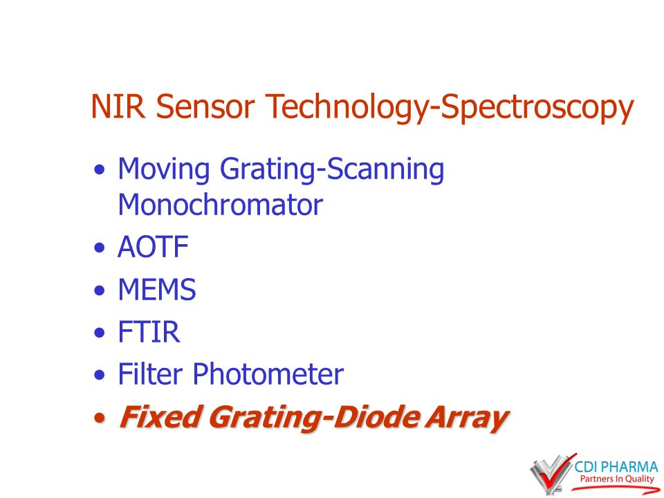 NIR Sensor Technology-Spectroscopy