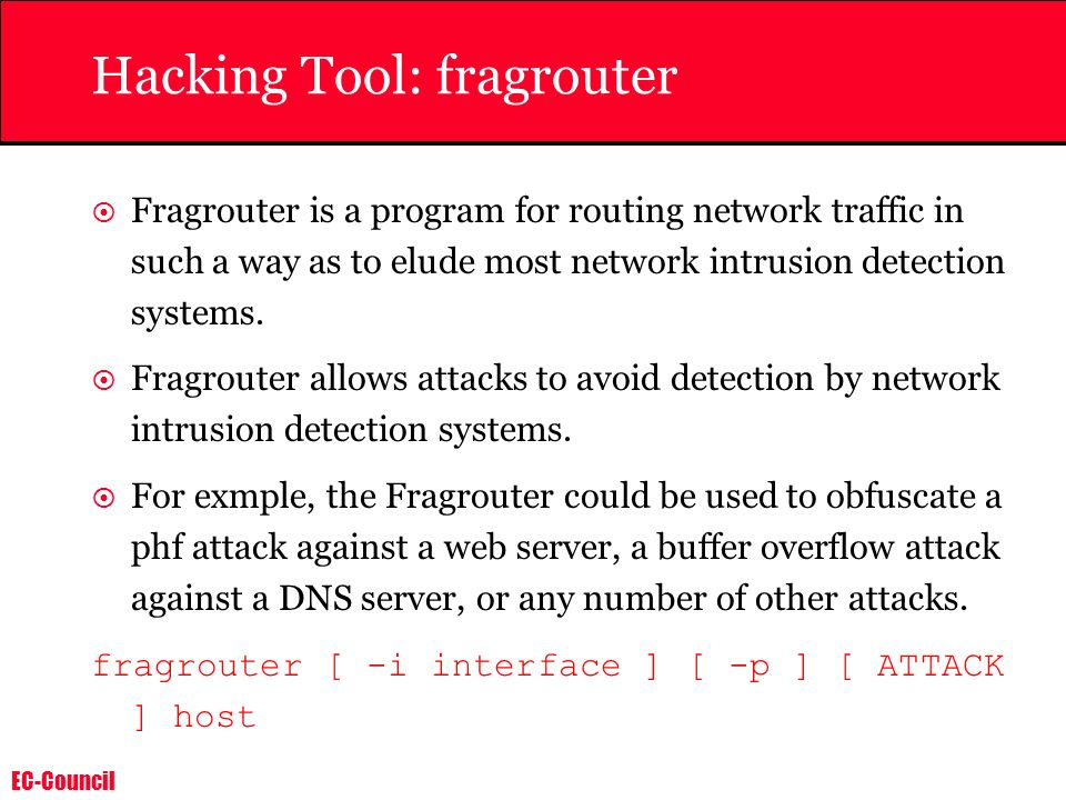 Hacking Tool: fragrouter